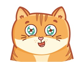Hosico cat! Cute stickers for iMessage