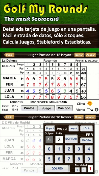 Screenshot for Golf My Rounds in Chile App Store