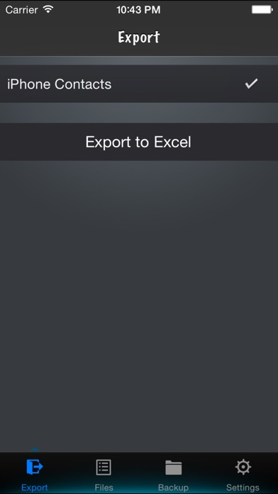 Contacts to Excelのスクリーンショット1