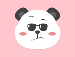 Stick Panda on anything with this stickers pack of panda emojis