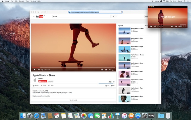 Hang - Video Always On Top Screenshot