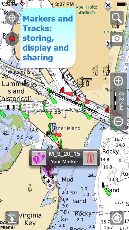 Aqua Map: US - GPS Boating Charts | HD screenshot-3