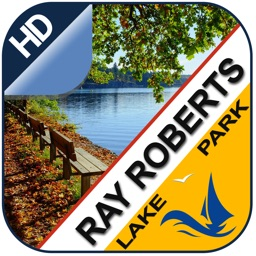 Ray Roberts offline chart for lake and park trails