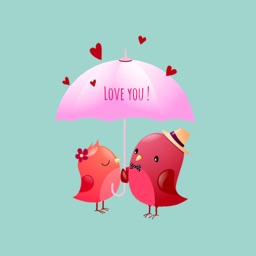 Love Couple Birds Sticker