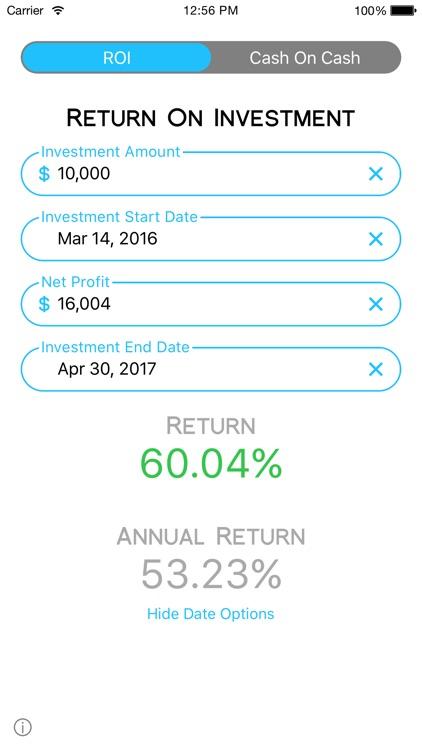 Cash On Calc - Smart, Fast, Investment Calculator screenshot-3
