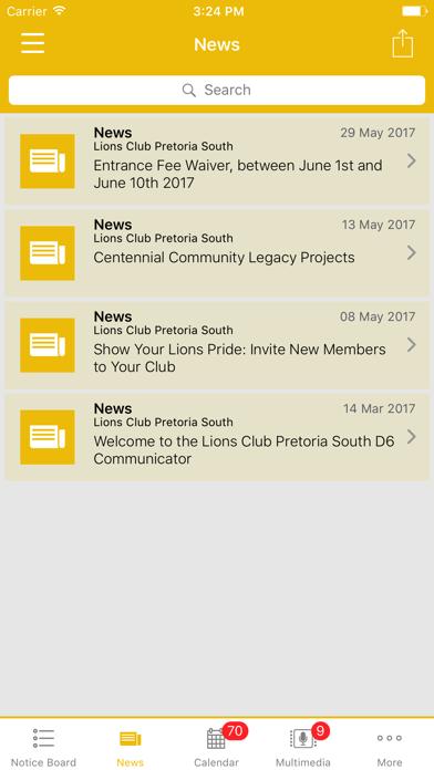 Lions Club Pretoria South screenshot two
