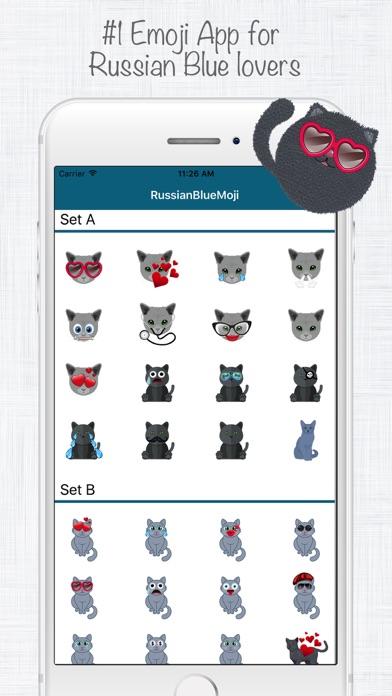 ロシアンブルー絵文字スタンプ screenshot1