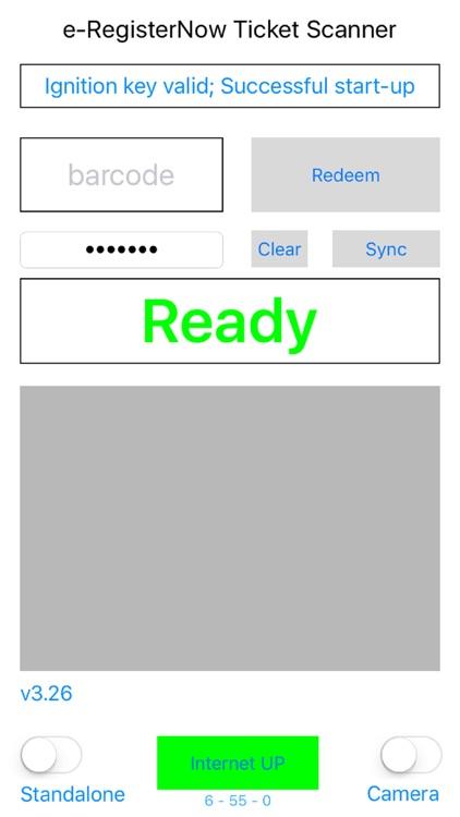 e-RegisterNow e-Ticket Scanner