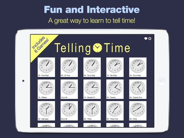Telling Time 8 Games To Tell Time On The App Store