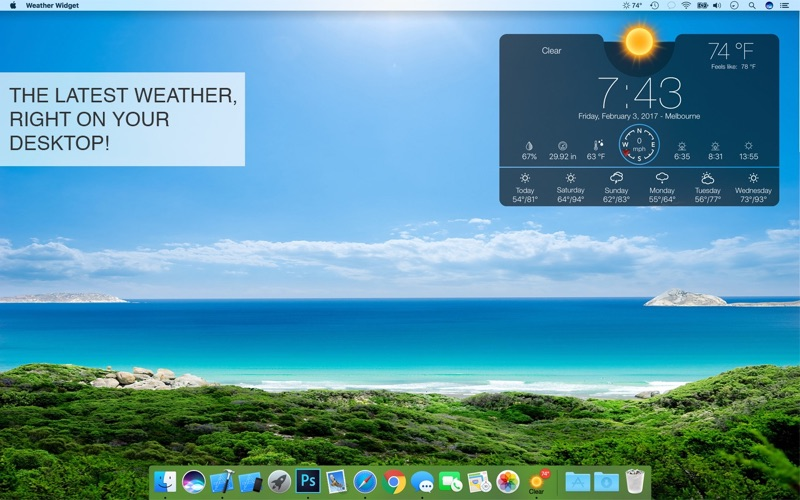 Weather Widget Desktop + Screenshot