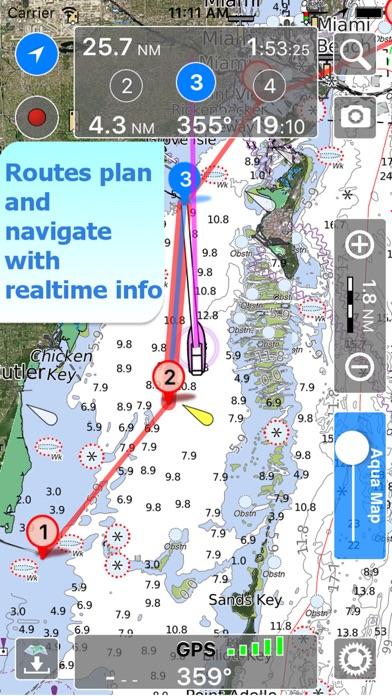 Aqua Map: US - Marine GPS app image