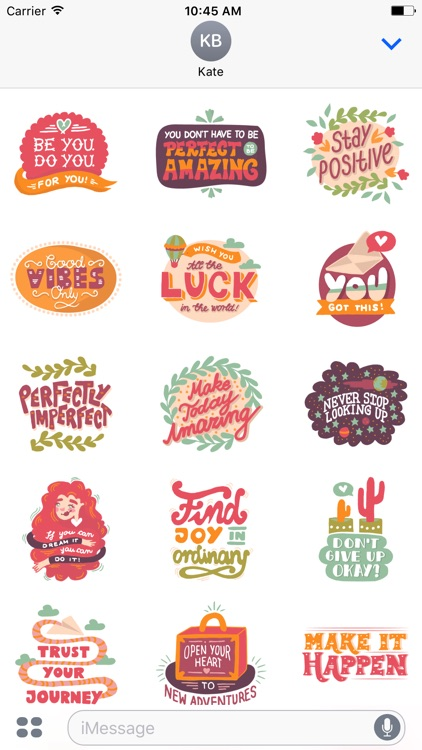 Words To Live By - Sticker Pack