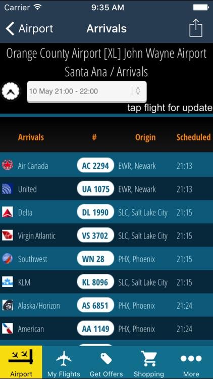 John Wayne Airport Pro (SNA) + Flight Tracker HD