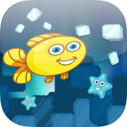 Ice Block Dash - Mr. Fish Get All The Starfishes