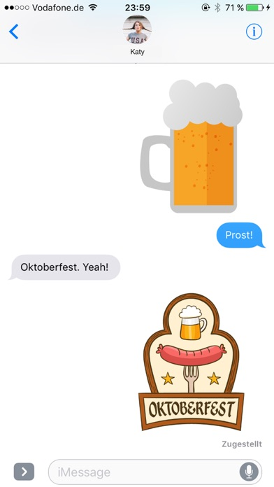 Octoberfest sticker package - Photo booth! screenshot 2