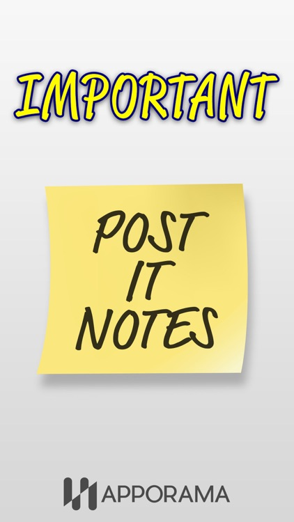 Post it Stickers Important