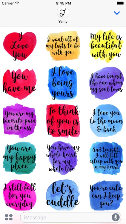 Watercolor Love Messages screenshot-3