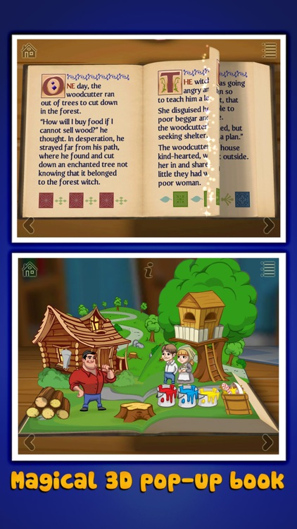 Grimm's Hansel and Gretel ~ 3D Interactive Book screenshot-0