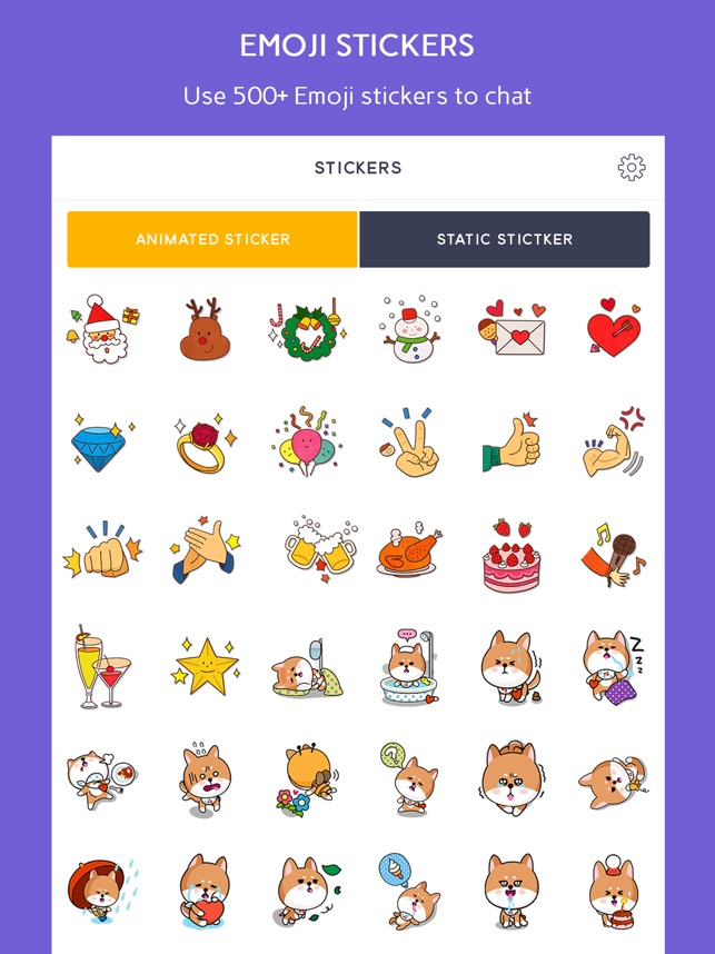 Emoji Sticker for iMessage & Animated GIF keyboard on the