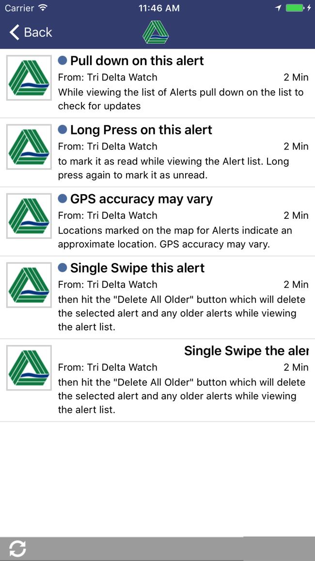 Tri Delta Watch Screenshot