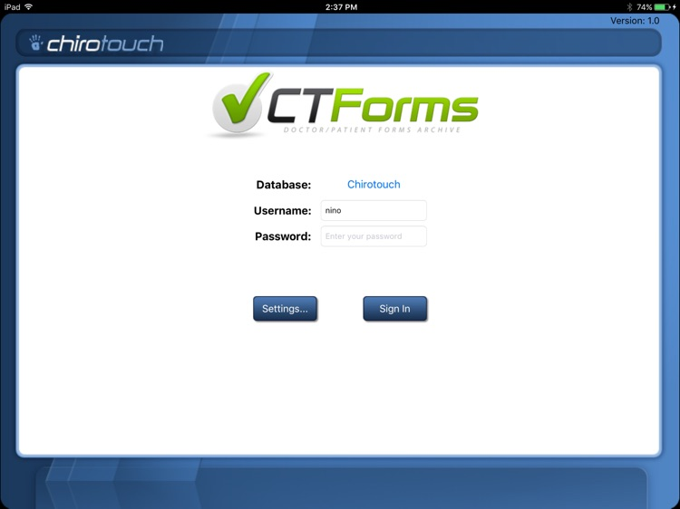 CT Forms Mobile 6.7
