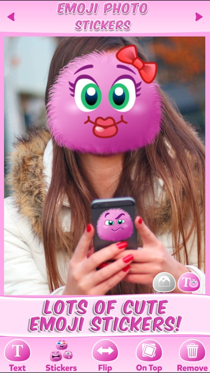 Emoji Stickers Photo: Cute Sticker & Pink Emoticon