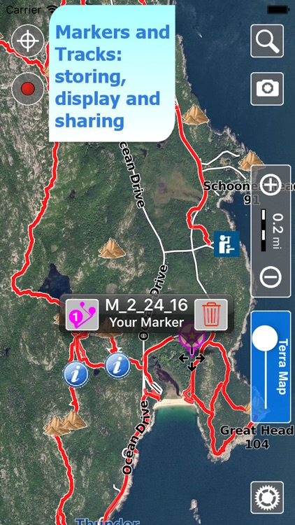 Trails of Acadia NP - GPS and Topo Maps for Hiking screenshot-3