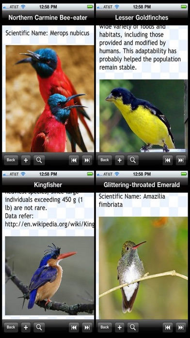 Birds Encyclopedia review screenshots