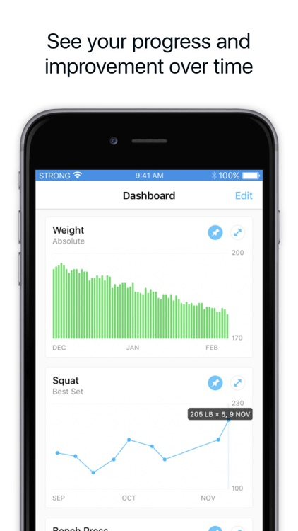 Strong Workout Tracker: Gym Log, Exercise Journal app image