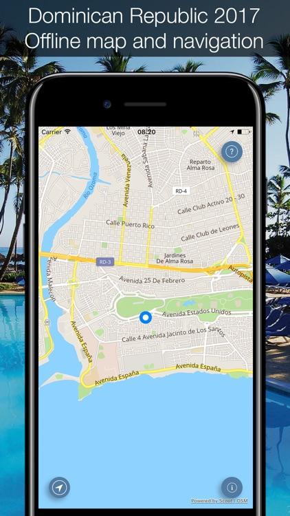 Dominican Republic 2017 — offline map!