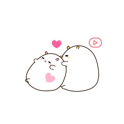 Hamsoji - Fat & Lazy Hamster Animated Gif Stickers