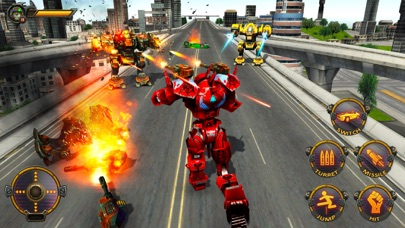 Monster Robot Hero City Battle screenshot two