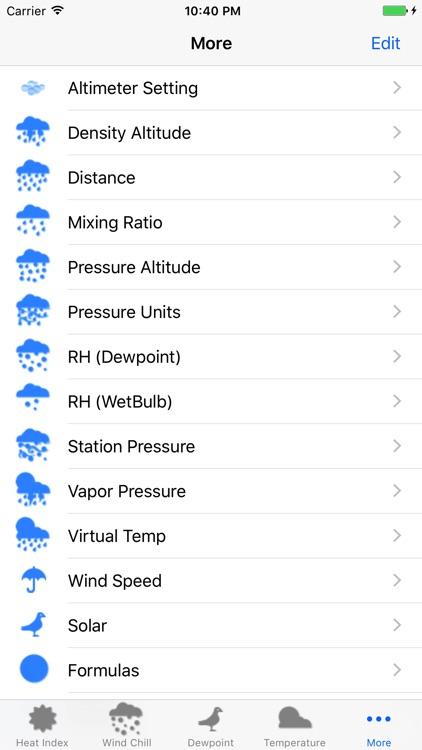 Weather Calc & Conv Temp,Solar,Pressure,Altimeter screenshot-3