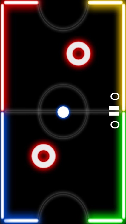 Air Glow Hockey Table Space Arena