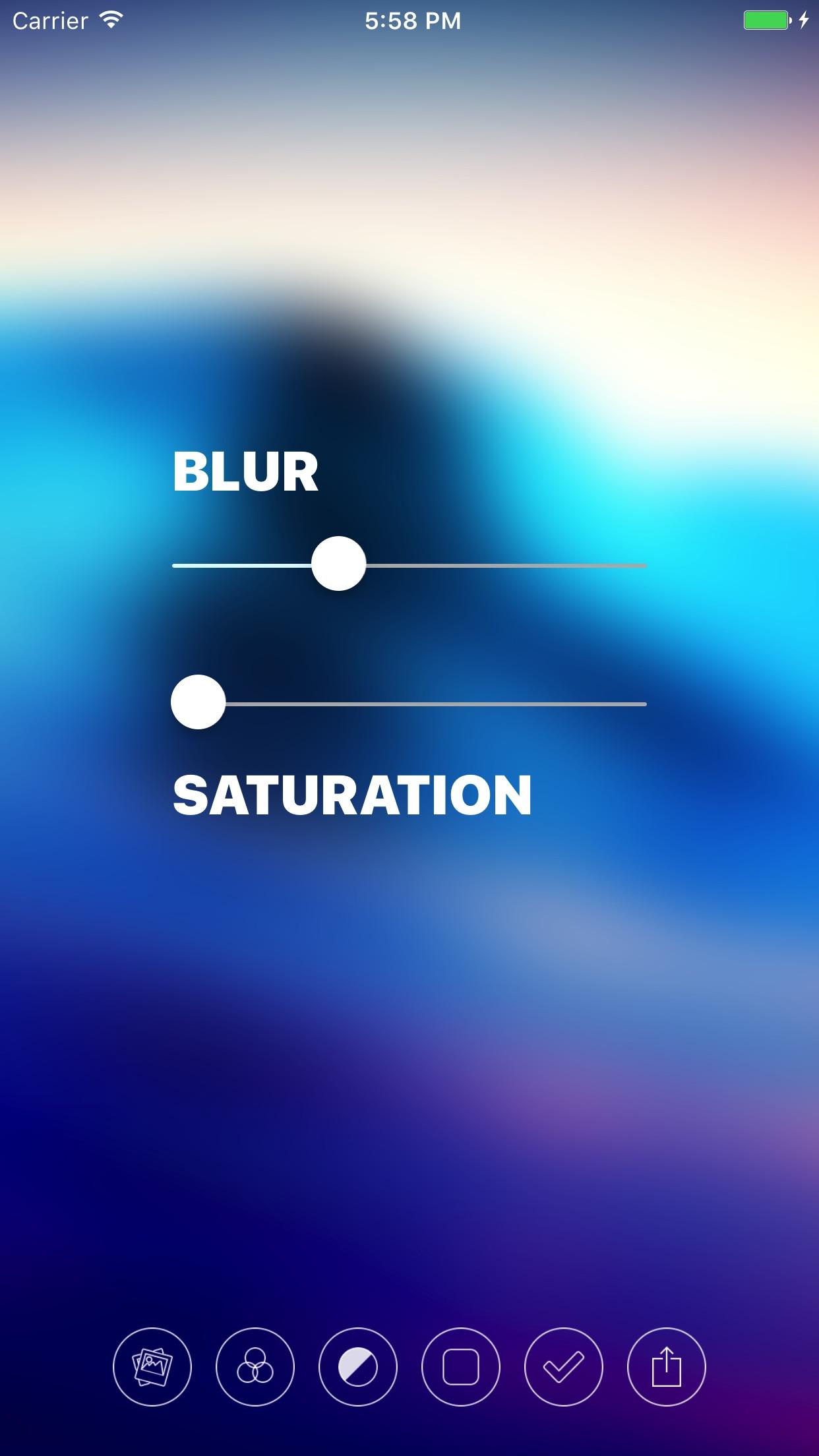 Screenshot do app Blur - Create Beautiful Wallpapers