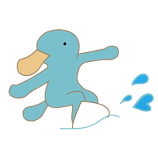 Cute Platypus Surfing Sticker