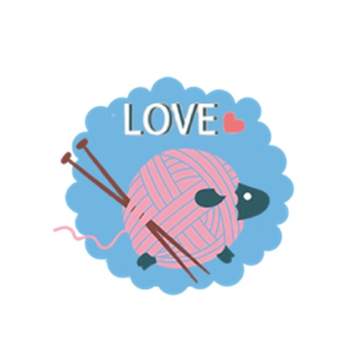 Lovely Wool Roll Sheep Emoji Sticker