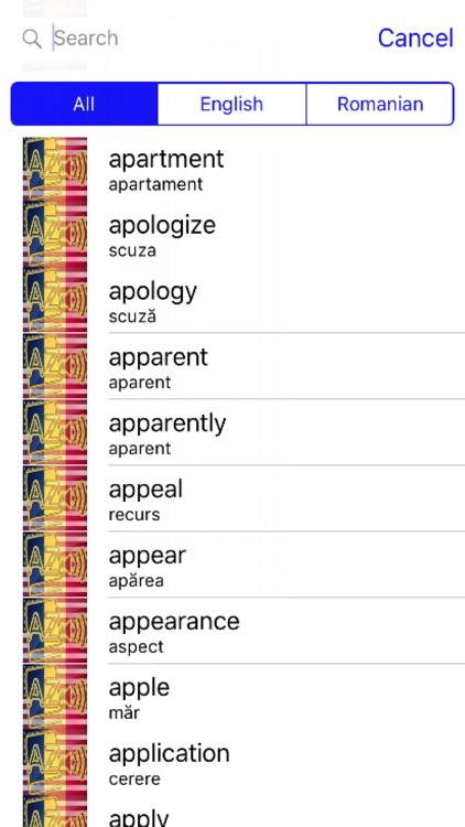 Romanian Dictionary GoldEdition screenshot-3