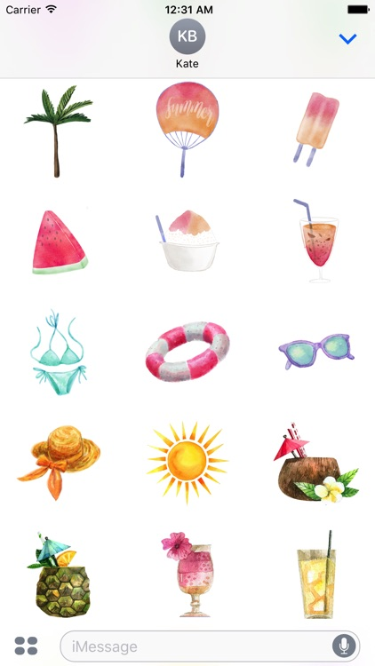 Pretty Summer Holiday Stickers Pack