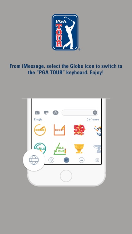 PGA TOUR Emoji Keyboard screenshot-2