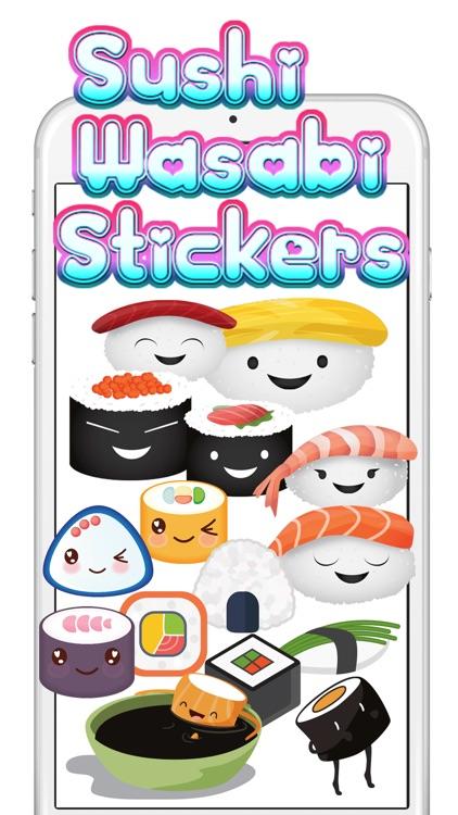 Sushi Wasabi Stickers - Yummy!