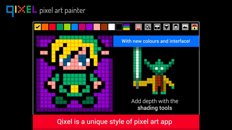 Qixel HD : Pixel Art Painter screenshot-0