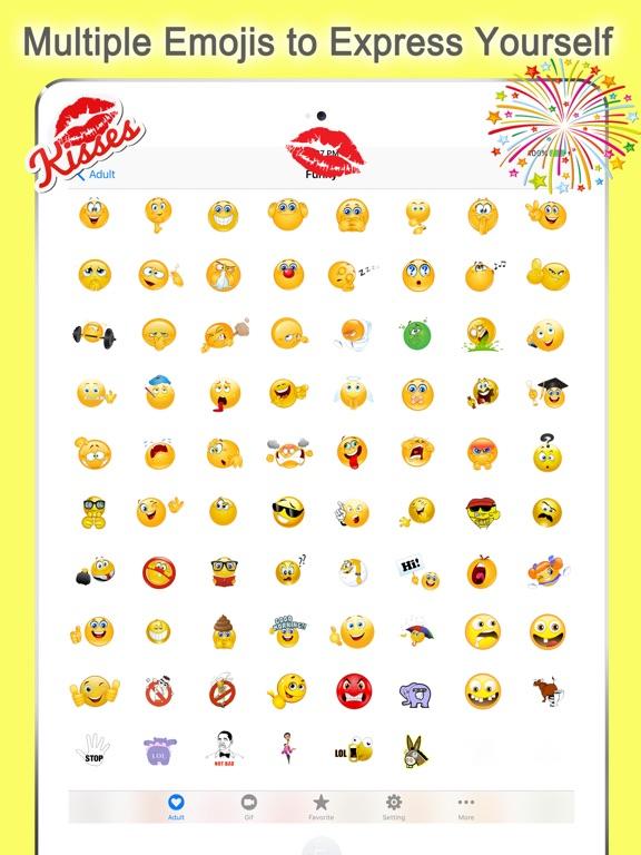 Twitch Emoji - Emotion keyboard Text Adult Smileys-ipad-0