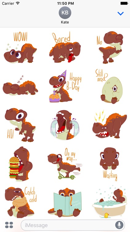 Dinos The Dinosaur Stickers for iMessage