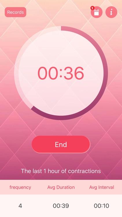 uterine contractions recorder Pro - Labor Timer