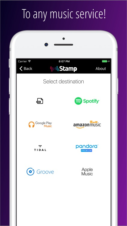Stamp Music Importer - Free your music! app image