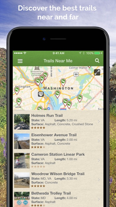 Download TrailLink Bike Trails Maps IOS Apps OFFLINE - Trail map apps