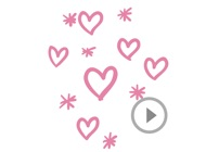 Animated Cute Heart Stickers