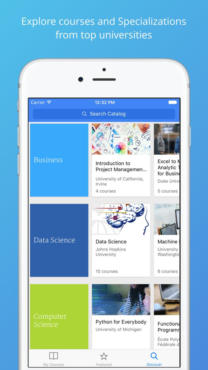 Coursera: Top online courses Screenshot