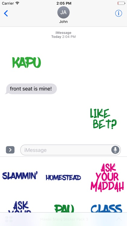 Hawaii Slang Sticker Pack 3